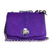 Фиолетовая сумочка из питона